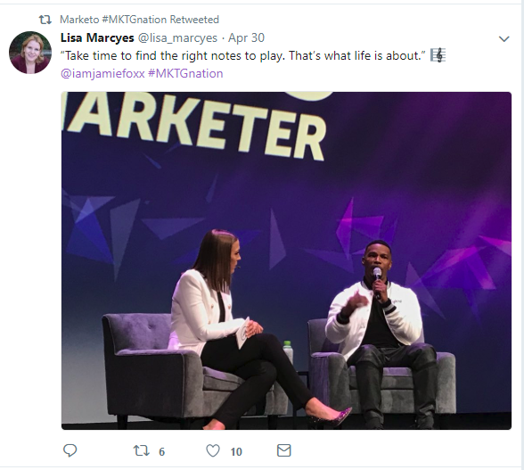 Jamie Foxx at Marketo 2018