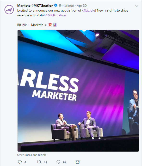 Marketo Announcement